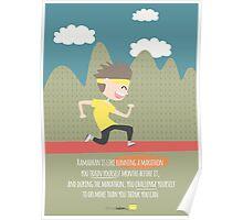 Ramadhan is like running a marathon... Poster