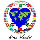 One World  - Work Together in Peace  by 321Outright