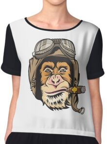 Flying Monkey Cigar Chiffon Top