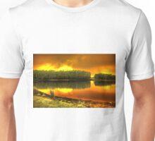 Blaze on Trout lake Unisex T-Shirt