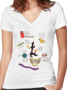 The Infernal Devices collage Women's Fitted V-Neck T-Shirt