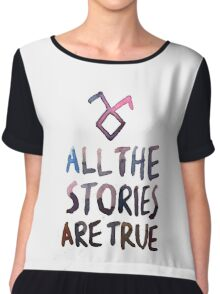 All the stories are true (watercolor) Chiffon Top