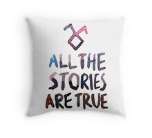 All the stories are true (watercolor) Throw Pillow