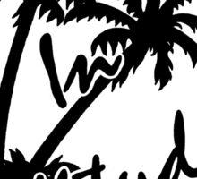 changes in latitudes monochrome artwork jimmy buffett Sticker