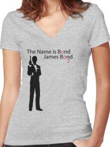 007 Women's Fitted V-Neck T-Shirt