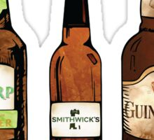 Watercolor Beer Bottles Sticker