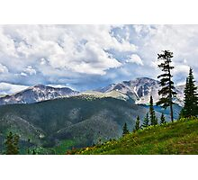 View from atop Winter Park Mountain 1  Photographic Print