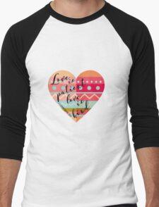 1 Corinthians 13:4 Men's Baseball ¾ T-Shirt
