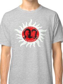 supernatural sam dean j2 jared jensen moose squirrel pentagram Classic T-Shirt