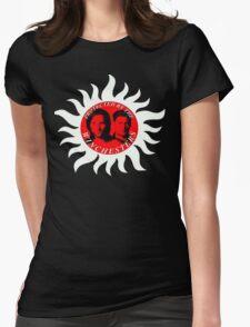 supernatural sam dean j2 jared jensen moose squirrel pentagram Womens Fitted T-Shirt