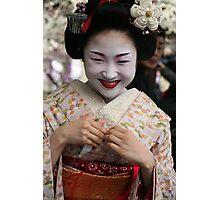 Smiling Maiko Katsuru 勝瑠 Photographic Print