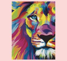 Colorful Lion One Piece - Short Sleeve
