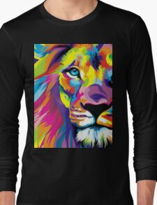 Colorful Lion Long Sleeve T-Shirt