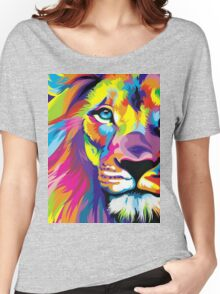 Colorful Lion Women's Relaxed Fit T-Shirt