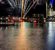 Fireworks at Melbourne Docklands, Victoria, Australia. Sticker