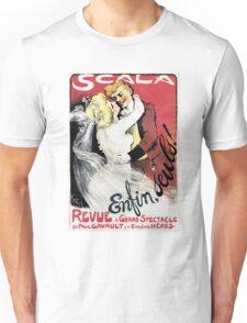 Vintage Scala Enfin Seuls Poster Unisex T-Shirt