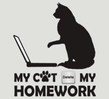My cat deleted my homework by NewSignCreation