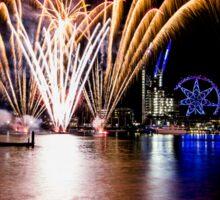 Fireworks featuring Melbourne Star, Melbourne Docklands, Victoria, Australia. Sticker