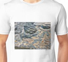 Eroded rocks on beach with puddle Unisex T-Shirt