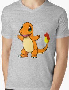 Charmander - Pokemon Mens V-Neck T-Shirt
