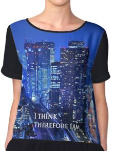 Engrish. I think therefore Chiffon Top