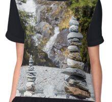 Fantail Falls, West Coast - New Zealand Chiffon Top