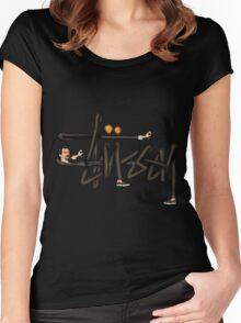 STUSSY - BOMBERMAN GRAFITI Art #MP Women's Fitted Scoop T-Shirt