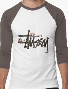 STUSSY - BOMBERMAN GRAFITI Art #MP Men's Baseball ¾ T-Shirt