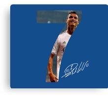 CR7 - Real Madrid Canvas Print