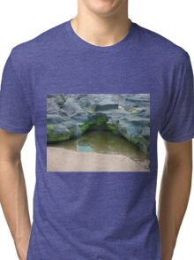 Moss, rocks and puddle Tri-blend T-Shirt