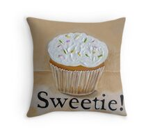 Cupcake Sweetie!  Throw Pillow
