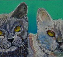 Two Best Friends by Sandra  Sengstock-Miller