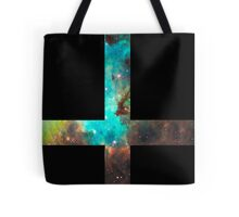 Green Galaxy Inverted Cross Tote Bag