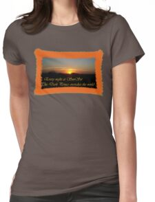 Every night at sunset Womens Fitted T-Shirt