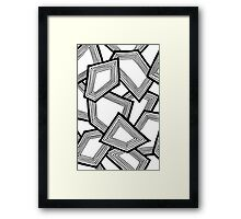 Miniature Aussie Tangle 24 Pattern in Black and White Framed Print
