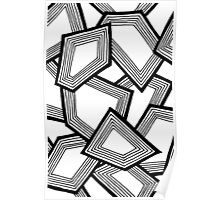 Miniature Aussie Tangle 24 Pattern in Black and White Poster