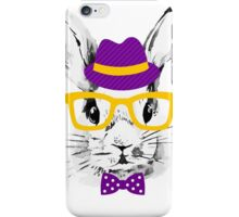 Hipster rabbit iPhone Case/Skin