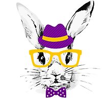 Hipster rabbit by pimlena