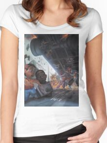 Weight of the World Women's Fitted Scoop T-Shirt