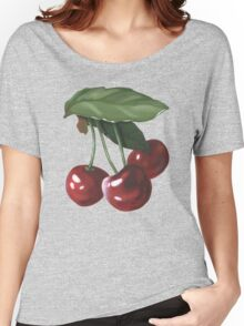 three cherries - acrylic painting Women's Relaxed Fit T-Shirt