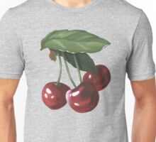 three cherries - acrylic painting Unisex T-Shirt