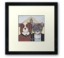 American Gothic Animals Framed Print