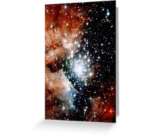 Red Galaxy Greeting Card