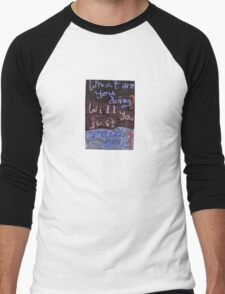 Gilmore Girls - What are you doing? Will you just stand still? Men's Baseball ¾ T-Shirt