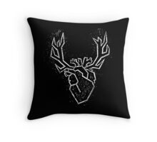 Heart of Rudolf - WHITE Throw Pillow