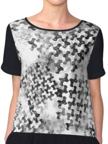 Houndstooth pattern with watercolor effect. Chiffon Top