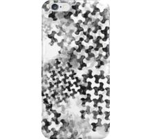 Houndstooth pattern with watercolor effect. iPhone Case/Skin