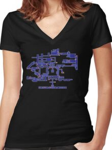 SOTN Map Women's Fitted V-Neck T-Shirt