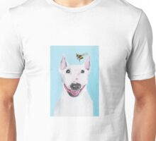 Bull Terrier with Bee Unisex T-Shirt