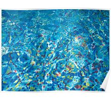 Pool view through the thickness of the water Poster